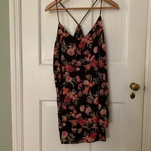 Tiered floral slip dress